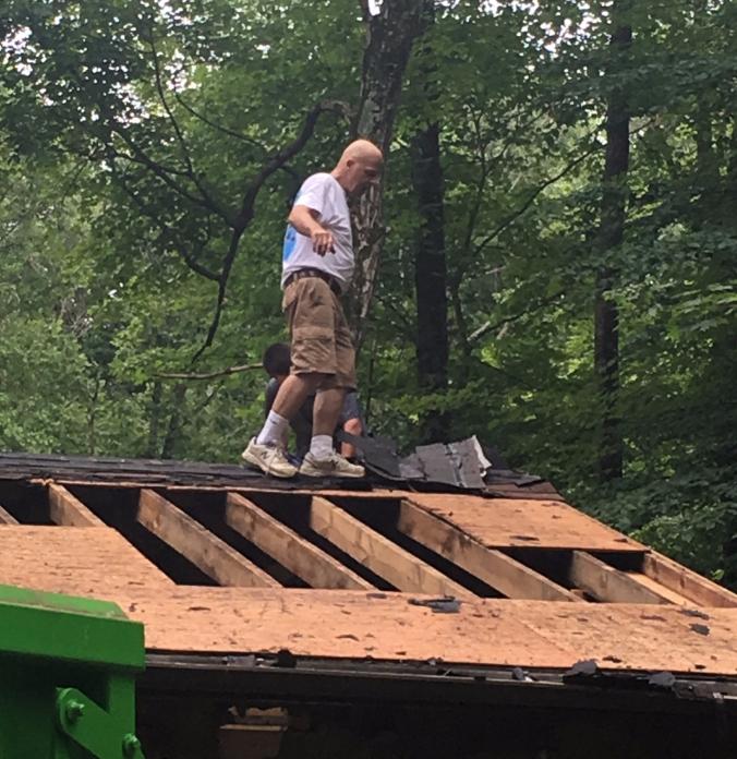 Tim on roof